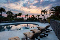 big island sunset pool home