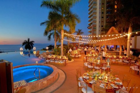 Poolside wedding function