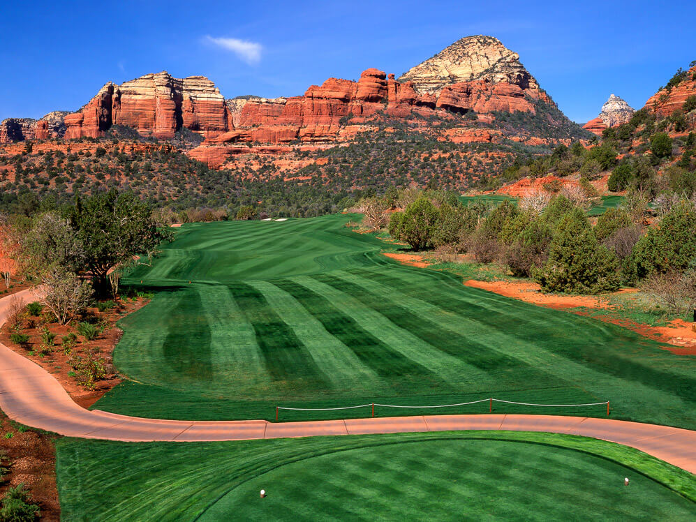 sedona golf course view