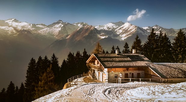 Italy, Alps, Mountains, House, Home