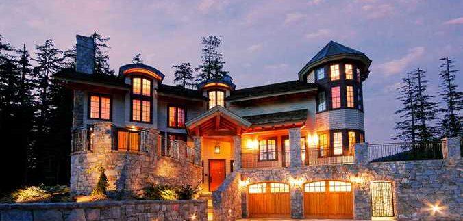 Whistler Kadenwood Estate Luxury Vacation Chateau Exterior