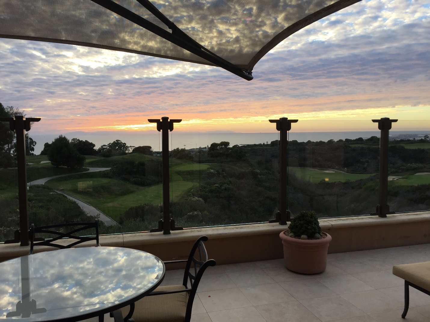pelican hill balcony overlooking golf course