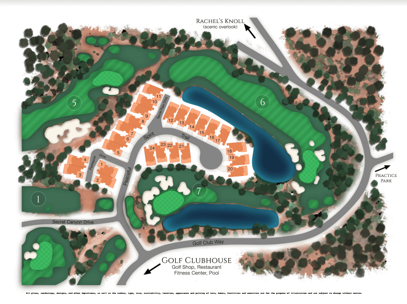 Sedona enclave townhomes layout