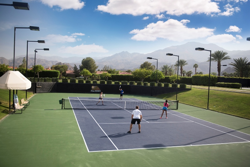 tennis courts at pga west