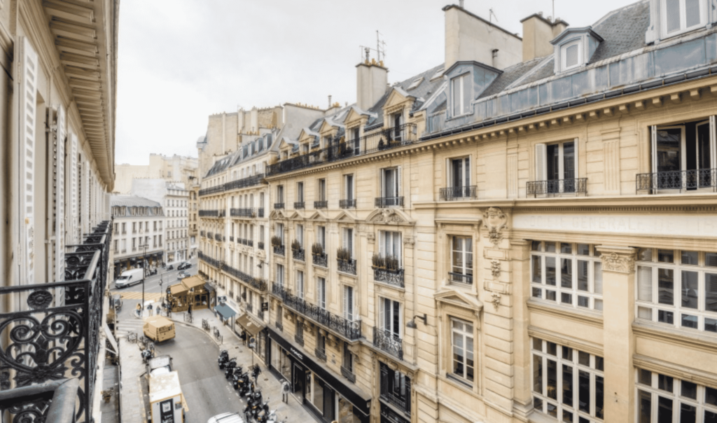 paris fractional apartment view of street